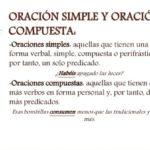Información de oraciones simples y compuestas: cuadros comparativos y ejemplos
