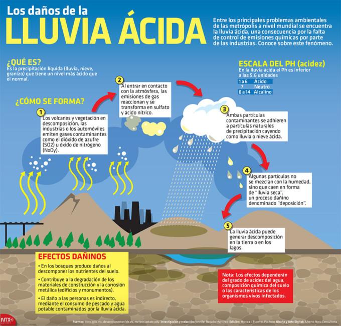 Informaci n sobre la lluvia cida qu es y qu provoca for Cuales son los pasos para realizar un periodico mural