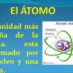 Información del átomo y sus partes