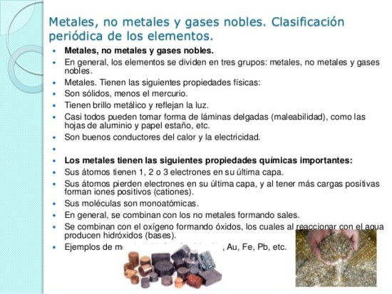 Informacin de metales y no metales con cuadros comparativos y metales no metales y gases nobles 2 638 urtaz Choice Image