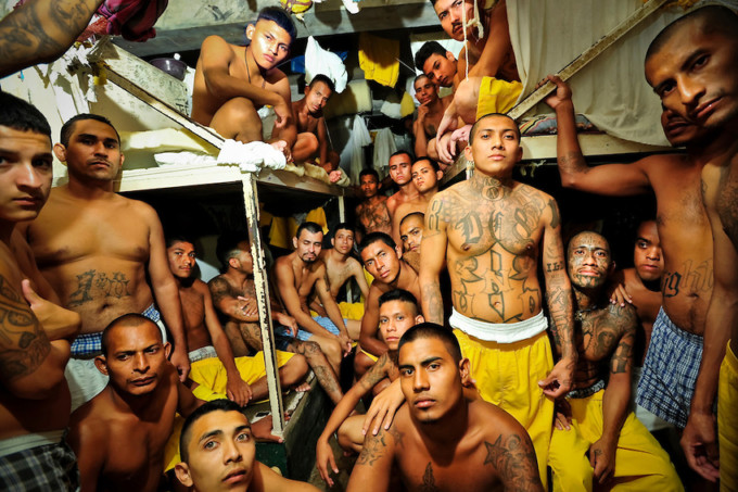 Overcrowded cells plague Izalco mens' prison for incarcerated members of the Mara Salvatrucha 18 gang, in El Salvador.